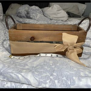 Wood crate box with scented decor